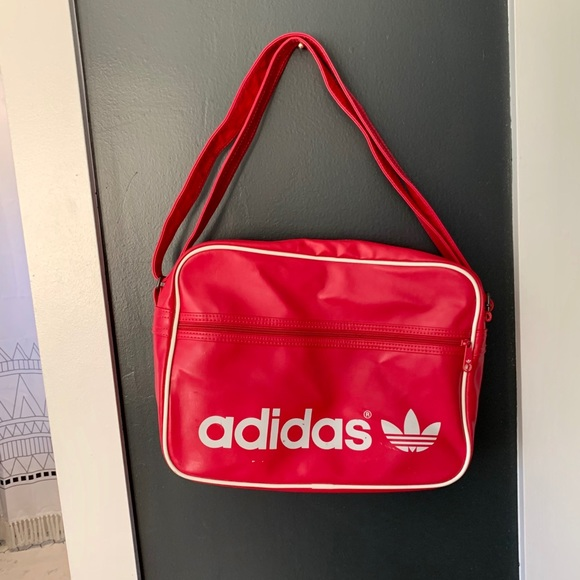 Adidas pink messenger bag